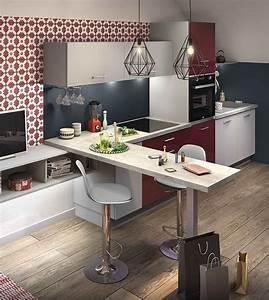 loft cuisine equipee coin repas et coins With petite cuisine équipée avec achat table