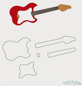 guitar cut out template - 17 awsome guitar cake templates designs free