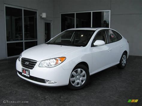 White Hyundai Elantra by 2008 Captiva White Hyundai Elantra Gls Sedan 14827669