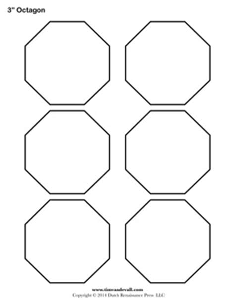 printable octagon templates blank octagon shape pdfs