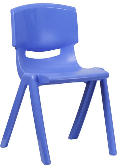 flash furniture blue plastic stackable school chair with