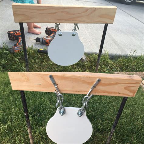 homemade gong stands shooting targets diy shooting targets steel shooting targets