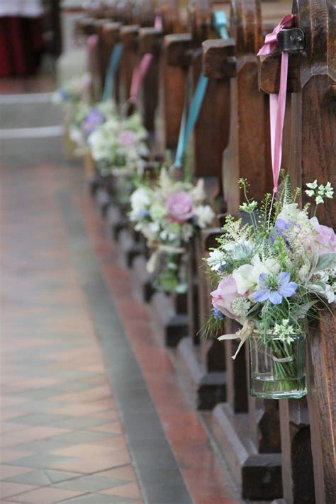 Jam Jars With Posies For The Pew Ends This Is A