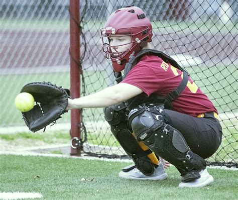 Athletic trainer turned softball catcher - The Wichitan