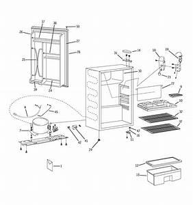 Ge Wmr04banabb Compact Refrigerator Parts