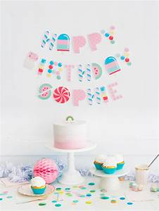 free printable candy letter garland With letter garland