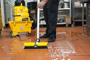 Restaurant grease removal make your floors safe kaivac for How to keep shoes from slipping on floor
