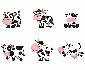Free Cartoon Cow Vector Vector Art & Graphics | freevector.com