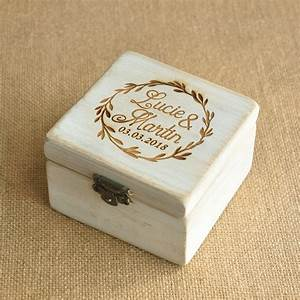 Personalized wood wedding ring box personalized wedding for Personalized wedding rings