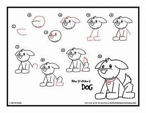 Dog Drawing Step By How To Draw A Art For Puppy - Litle Pups