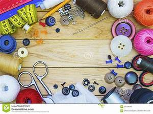 Frame of Tailoring tools stock photo. Image of household ...
