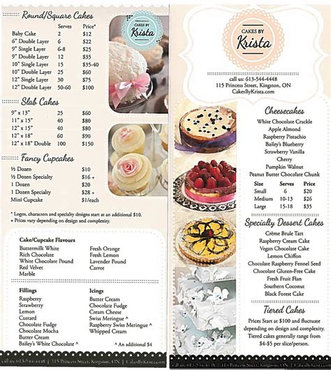 wedding cake price list idea   bella wedding