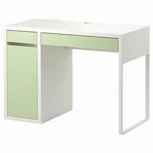 Bureau Ikea Enfant : micke desk white light green ikea library study ~ Nature-et-papiers.com Idées de Décoration
