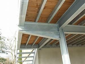 escaliers en acier galvanise atelier fabiani a montauban With terrasse en acier galvanise
