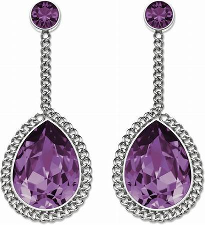 Earrings Jewelry Purple Diamond Earring Jewellery Transparent