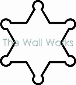 Blank sheriff badge wall sticker vinyl decal the wall works for Blank police badge template