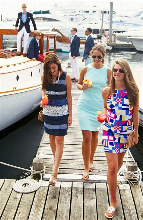 classy girls wear pearls boating    mooring