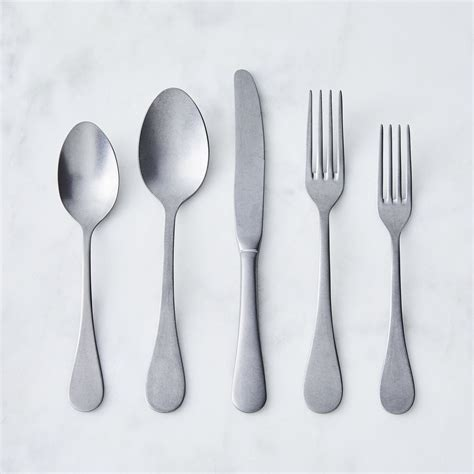 hudson stonewashed flatware serveware  food