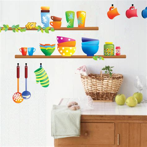 stickers cuisine design colorful kitchen sticker creative interior design kitchen