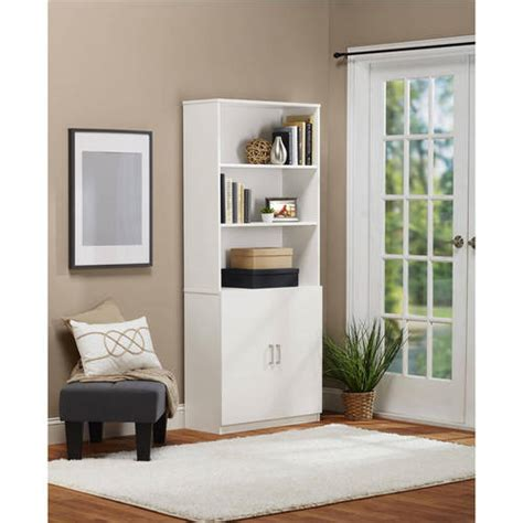 Walmart Bookcase With Glass Doors by Ameriwood Home 5 Shelf Bookcase With Doors Walmart