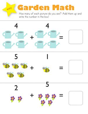 addition garden math worksheet education 901 | addition garden math kindergarten