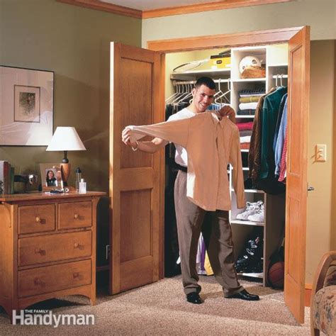 building a closet how to build a wall to wall closet the family handyman