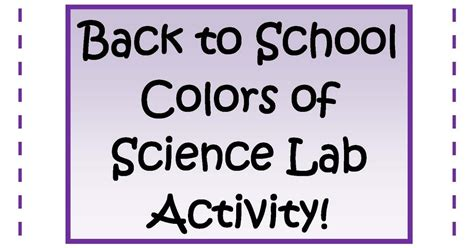 engaging lessons and activities back to school science