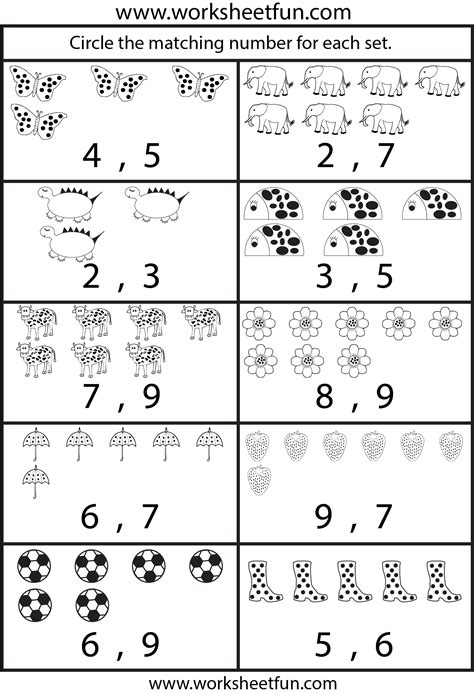 counting numbers worksheets   counting worksheet