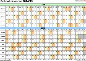 school calendars 2014 2015 as free printable excel templates With academic calendar template 2014 15