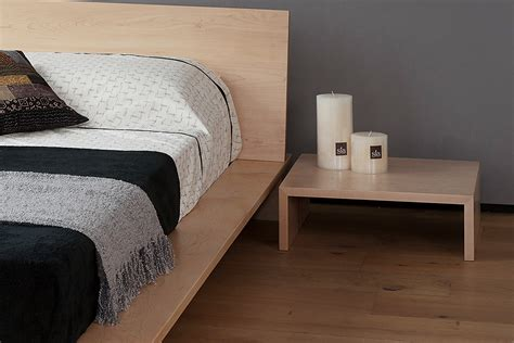 oregon table modern bedside table natural bed company