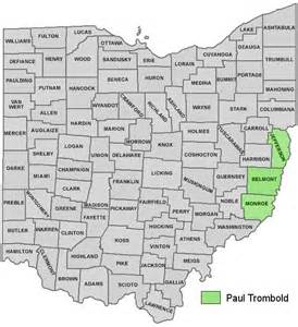 Ohio Counties Map with Cities