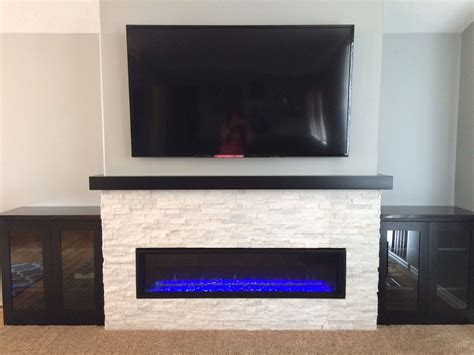 linear fireplace remodel   home linear fireplace