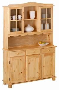 Buffet de cuisine en pin pas cher for Petite cuisine équipée avec meuble buffet vaisselier