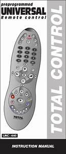 Universal Remote Control Urc 4140 Users Manual