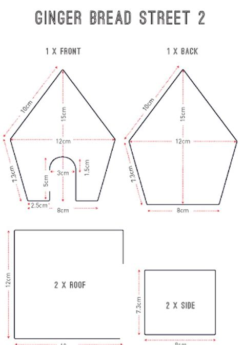 Gingerbread Template Gingerbread House Templates All Things