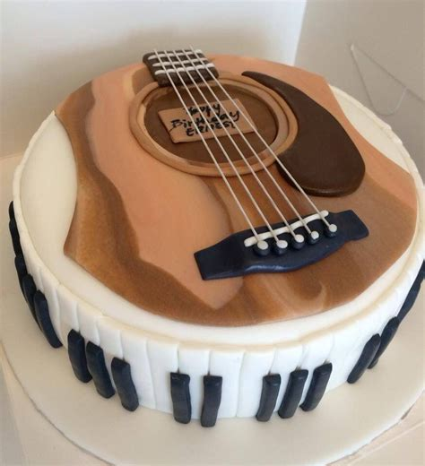 guitar  piano cake  butter home bakery cakes