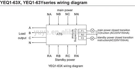 3 Pole Automatic Transfer Switch Wiring Diagram by Motorized Type Mcb Ats Change Switch Auto Changeover