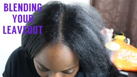blend  leave  natural hair   brazilian