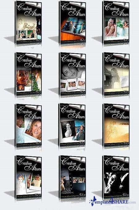 Creative Wedding Album Collection Psd Templates Volumes 1 12 creative wedding album collection volumes 1 12