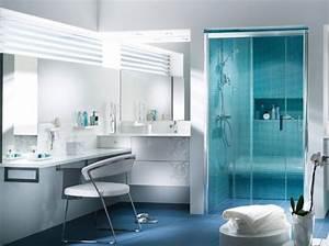 conseils deco salle de bain bleu et blanc With salle de bain bleu et blanc