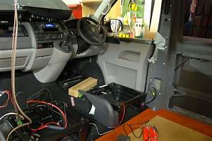 Leisure Battery Going Under Passenger Seat  Both Seat Swivels Yet To Be Fitted  Stock Stereo