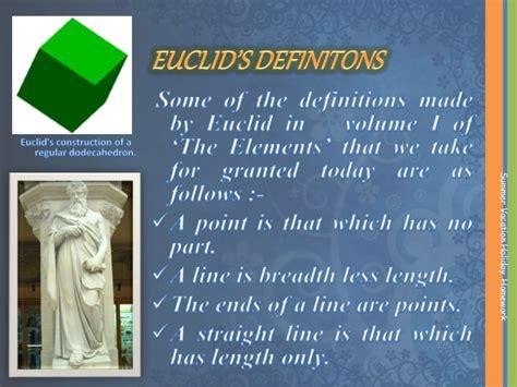euclid   contribution  development  math