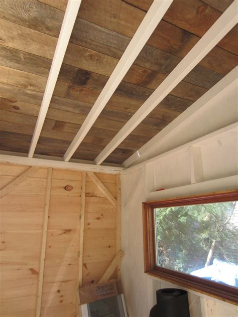 Wood Ceiling Planks by Relaxshacks A Recycled Barn Wood Fence Plank Ceiling