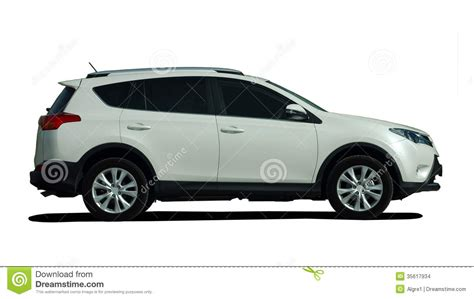 white suv side view stock images image