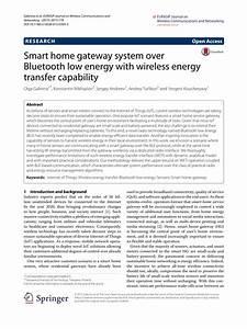 Smart Home Gateway : pdf smart home gateway system over bluetooth low energy with wireless energy transfer capability ~ Watch28wear.com Haus und Dekorationen