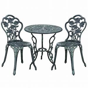 Gartentisch Mit 2 Stühlen : bistrotisch mit 2 st hlen metall bestseller shop f r m bel und einrichtungen ~ Frokenaadalensverden.com Haus und Dekorationen