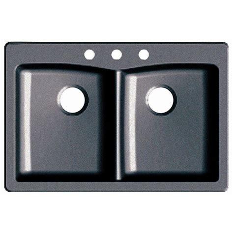 slate kitchen sink glacier bay dual drop in undermount granite composite 33 2306