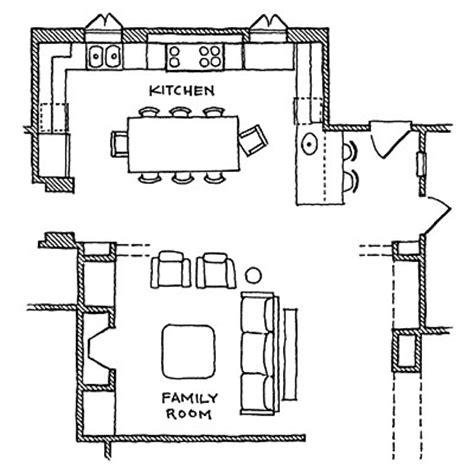 kitchen great room floor plans six great kitchen floor plans 8114