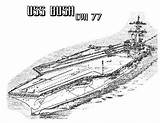 Coloring Carrier Aircraft Pages Ship Cvn Bush Plane Navy Battleship Ww2 Template Attack Take Sheets Sky Loading Templates Coloringsky Sketch sketch template