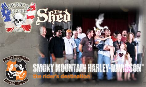 smoky mountain harley davidson shed events kelsey dowell american legends the shed
